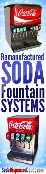 Remanufactured Soda Fountain Machines and Soda Dispenser Systems